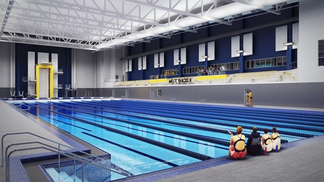 Northern Arizona pool, artist's rendition. Courtesy of NAU coach Andy Johns