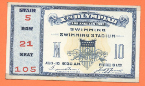 eBay Items Of The Week: Tickets To The 1932 and 1952 Olympics