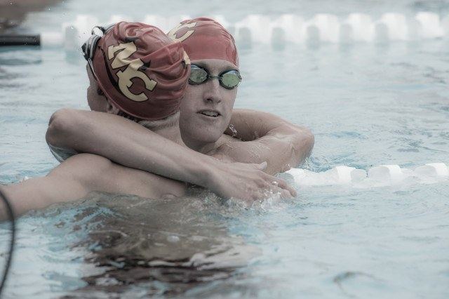 Mount Carmel High School's Grant Schenk took both the 200 and 500 free titles (photo: Mike Lewis, Ola Vista Photography)