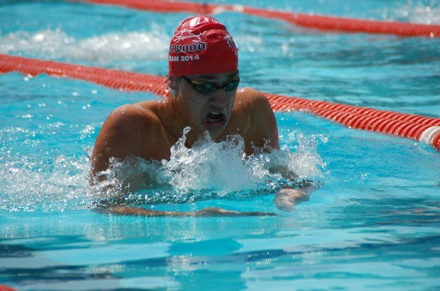Daniel McArthur of  Lakewood in the 200 IM. Photo: Anne Lepesant