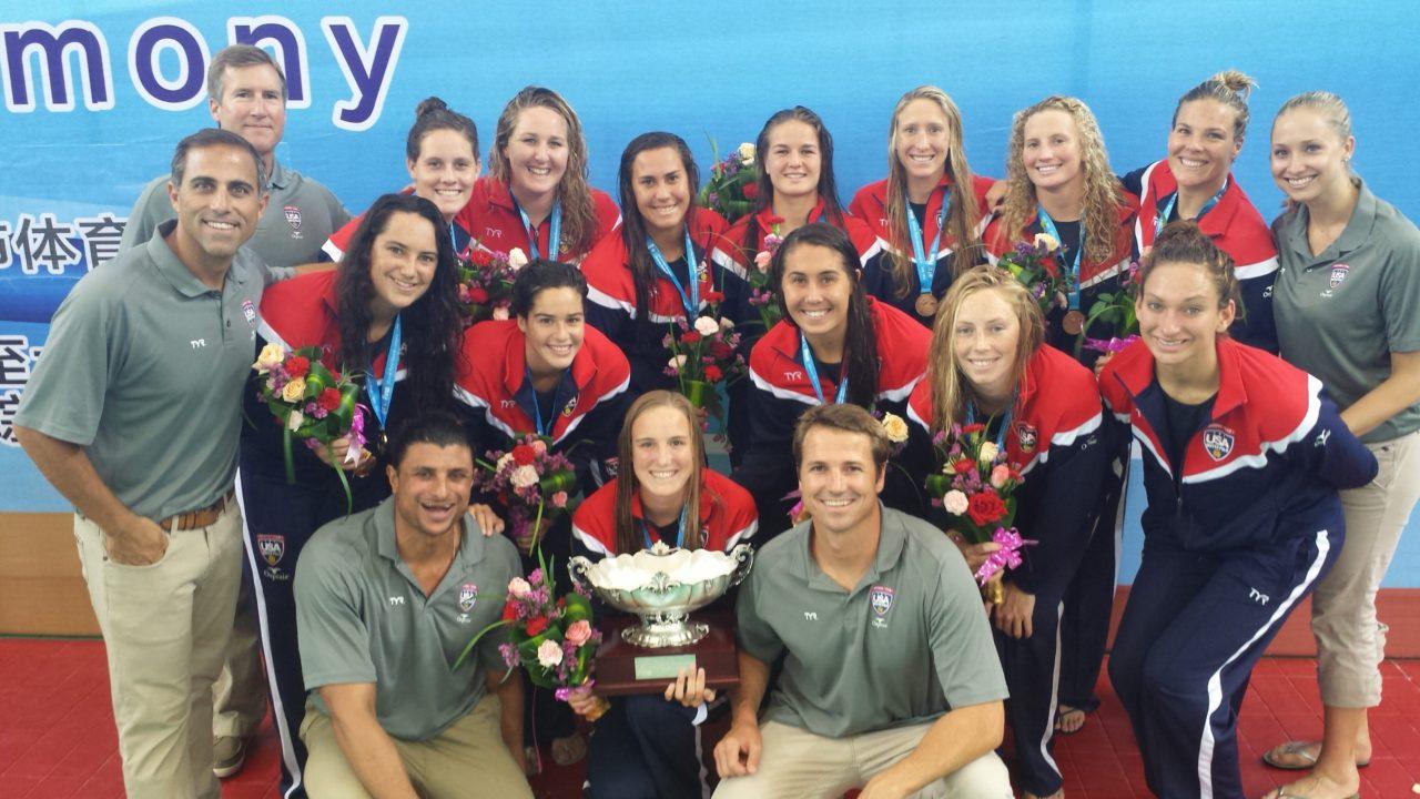 WATER POLO: USA Women Win Gold! — Team USA Tops Spain 10-8 For FINA World League Super Final Crown