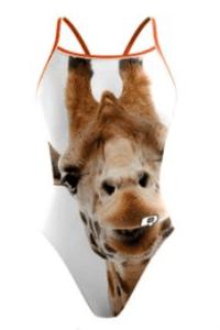 Q Swimwear, Giraffe Print White