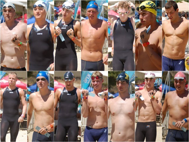 Swimmers 64-79. Photos: Anne Lepesant