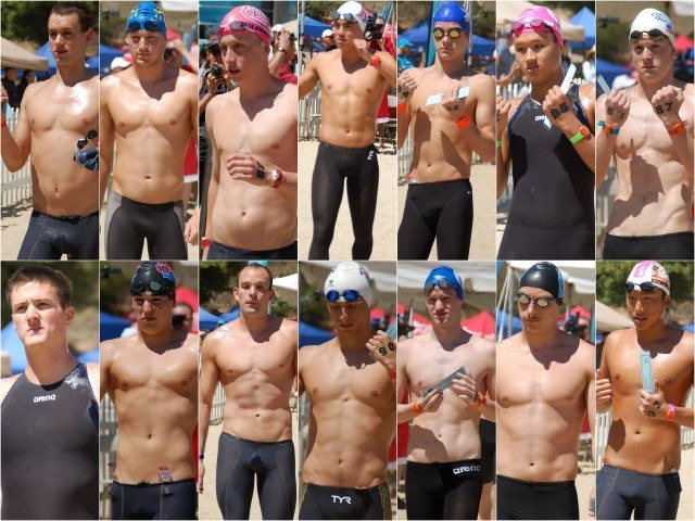 Swimmers 80-93. Photos: Anne Lepesant