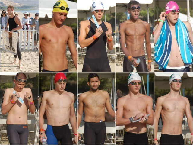 Swimmers 90-98. Photos: Anne Lepesant