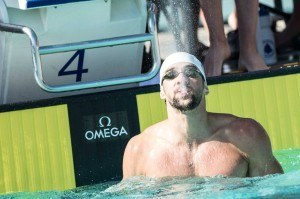 Michael Phelps - goes 48.8 in the 100 free, an in-season, unshaven PB.