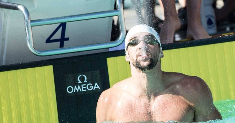 Michael Phelps Rounds Out NBAC Podium Sweep With Third Place Finish In 200m IM
