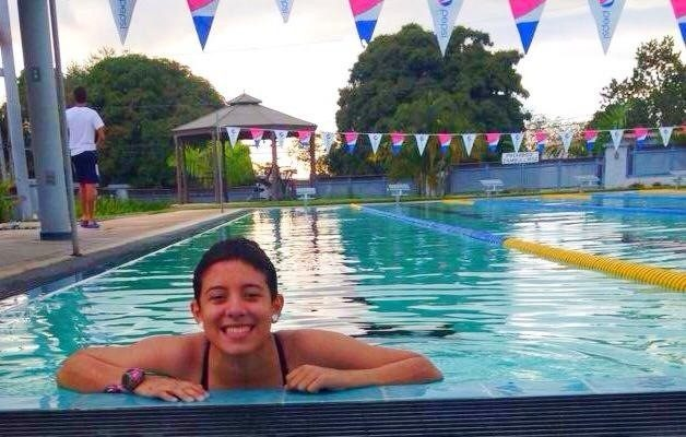 17-year-old cancer survivor Angeli Rivera back in the water and still defying odds