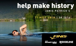 Jamie Patrick, 71 Mile Swim, August 2014