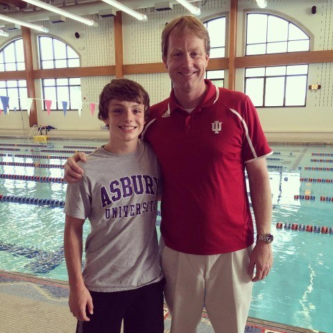 Indiana Hoosiers Head Coach Ray Looze with Chase. #ChaseStrong (Photo Courtesy of The Smith Family and the #ChaseStrong Facebook Group)