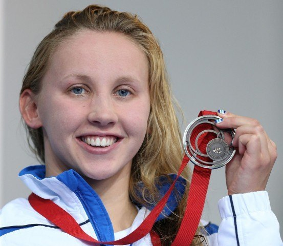 Scotland's Corrie Scott poses with her bronze medal from the 50 breaststroke at the 2014 Commonwealth Games (Courtesy: Ian MacNicol/Scottish Swimming)