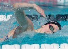 Amy Bilquist from the Carmel Swim Club in Indiana was the only swimmer under 55. The lengthy sprinter was a 54.88 for the top seed. (Courtesy: Tim Binning/TheSwimPictures.com)