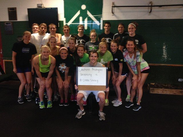 Eastern Michigan University is #ChaseStrong (Photo Courtesy of The Smith Family and the #ChaseStrong Facebook Group)