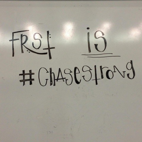 The Franklin Regional Swim Team knows that Chase is a tough swimmer, and a tougher person! #ChaseStrong