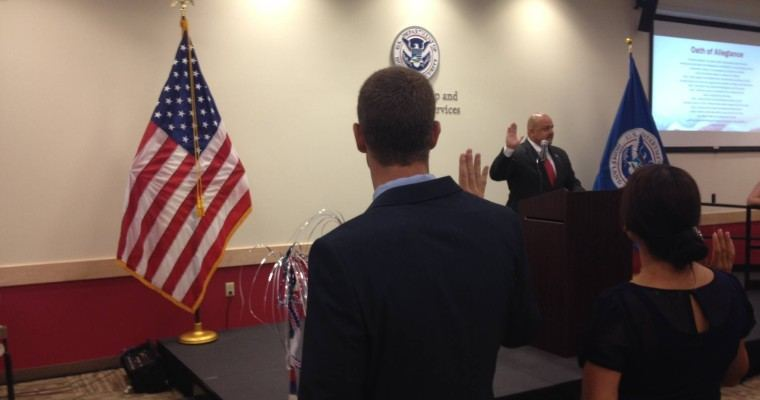 PHOTO VAULT: Watch Darian Townsend Get Sworn In as U.S. Citizen
