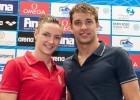 Katinka Hosszu and Chad Le Clos