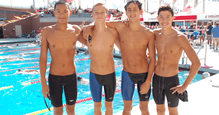Irvine Novaquatics Downs 13-14 National Age Group Relay Record