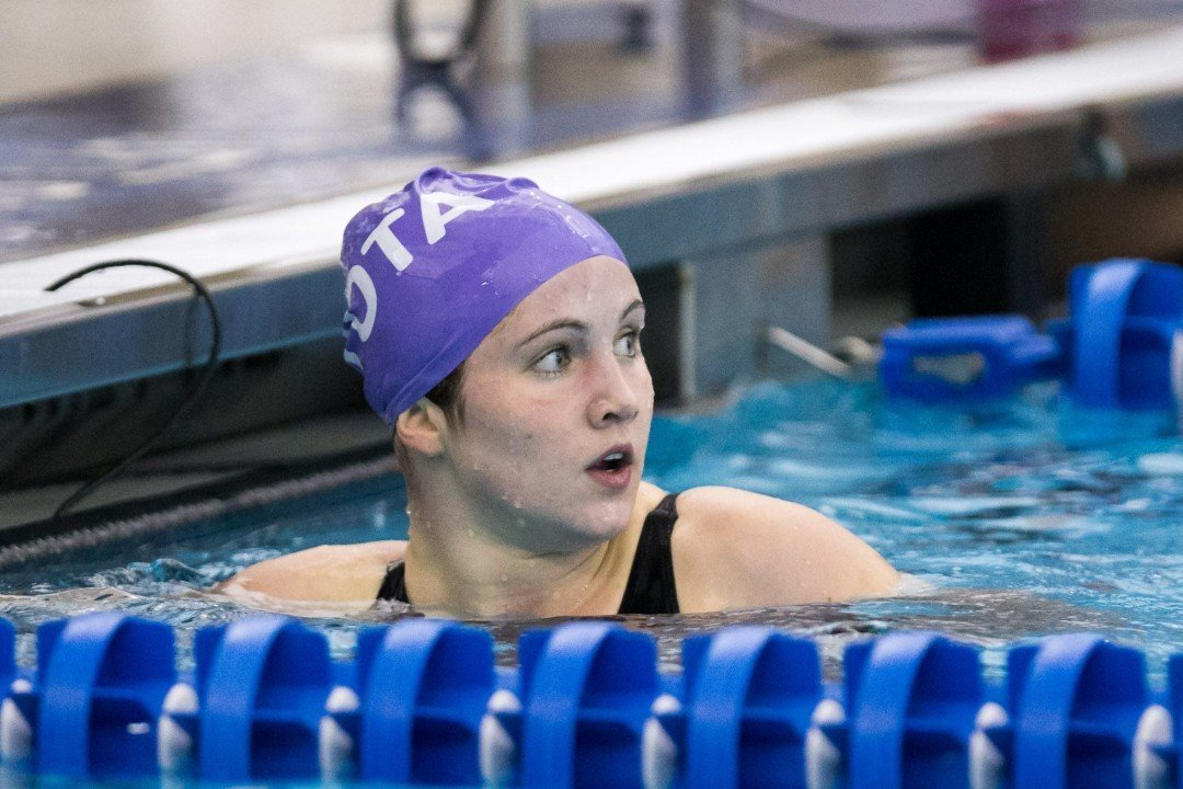 Olivia Ontjes breaks her own national record on day 2 prelims of YMCA Nats