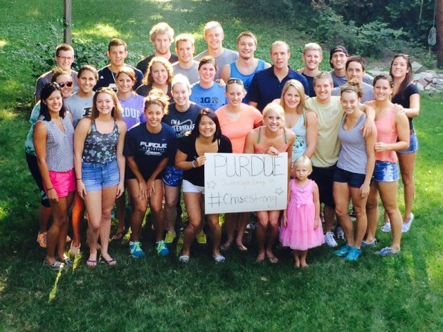 Purdue swimming and diving is #ChaseStrong (Photo Credit: Carly Mercer @carmercer)