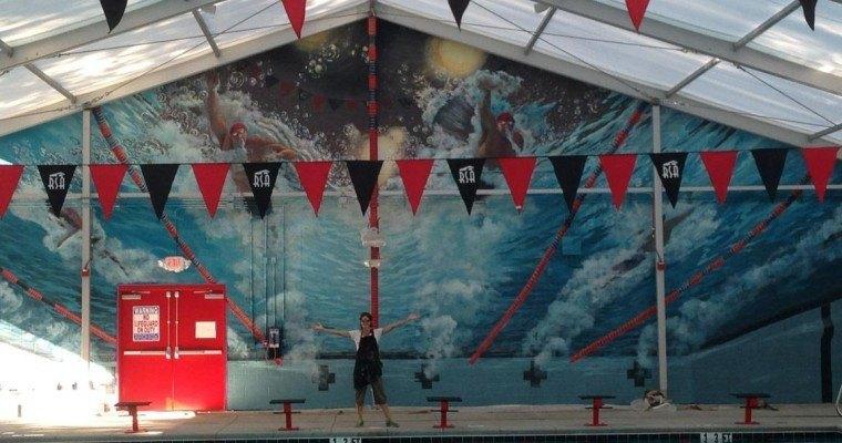 Raleigh Swimming Association reveals Secret Mural Project