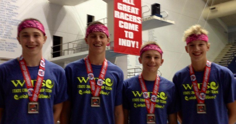 Washington Township (IN) 13-14 Boys Break National Age Group Record in 200 Free Relay