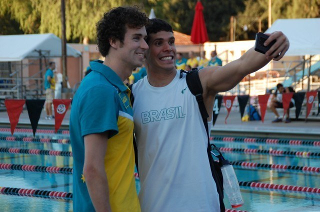 Aussie Brazil selfie