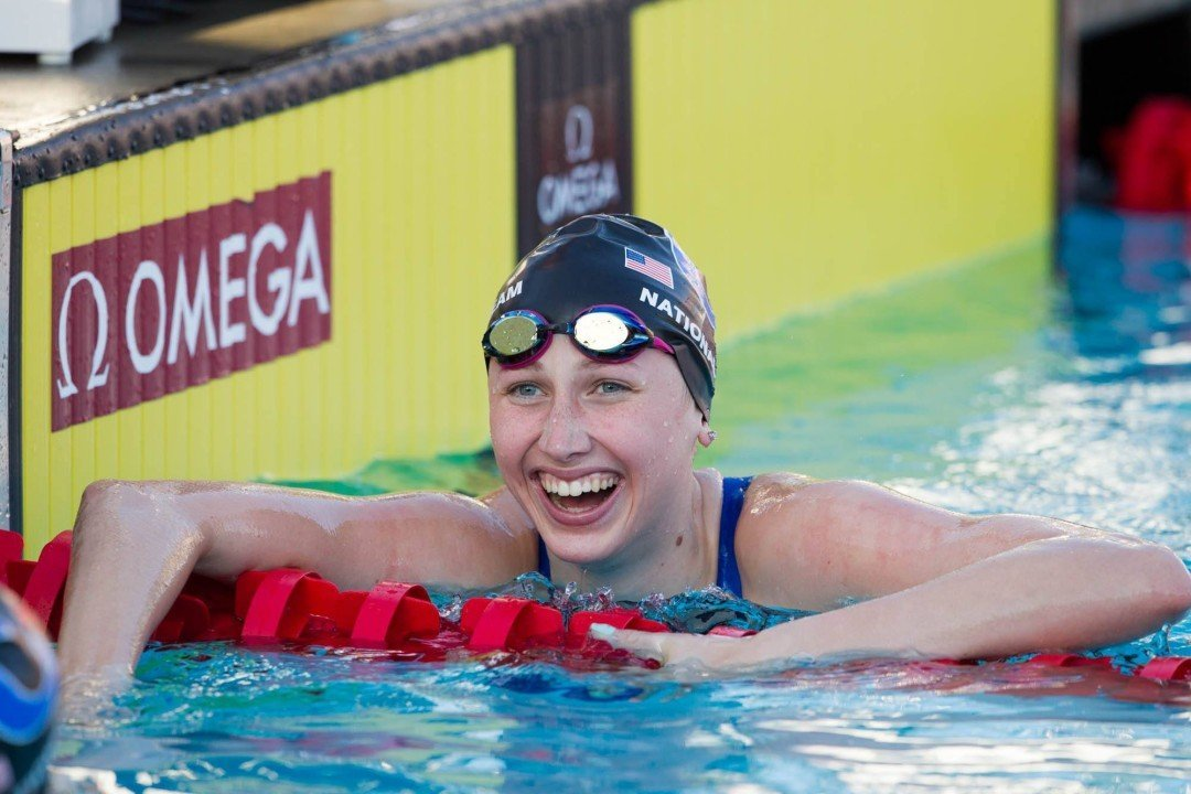 Race Video: Amy Bilquist Wins 100 Backstroke For Second Junior National Title
