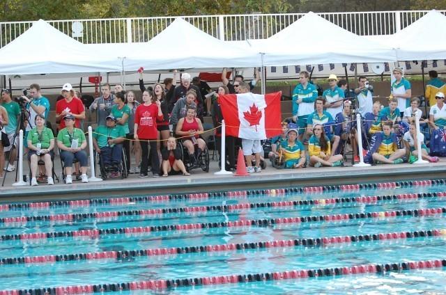 National pride. Cheering at Para Pan Pacs. Photo: Anne Lepesant