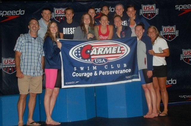 The Carmel Swim Club girls won the 2014 girls' Junior National Championship. Courtesy: Anne Lepesant