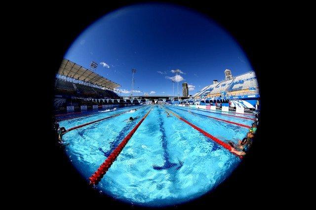 A Fisheye view of the Gold Coast Aquatic Centre. Foto: Satiro Sodre/SSPress.