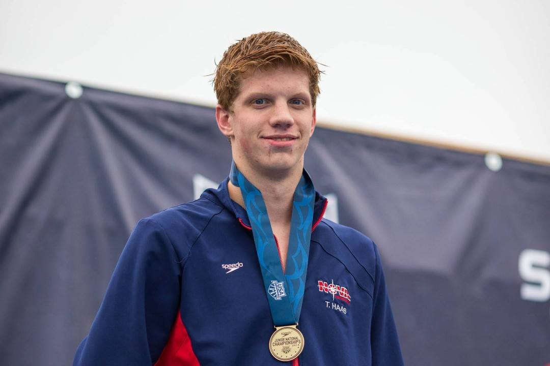 RACE VIDEO: Watch Townley Haas Win 3rd Event at Junior Nationals in Boys' 200 Free