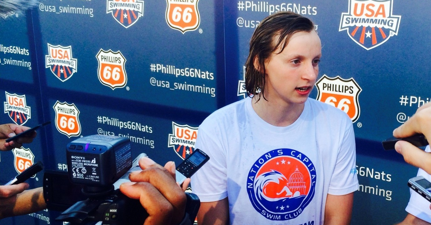 Katie Ledecky Breaks Jr World Record in 200 Free Again in Finals With World #2 Time