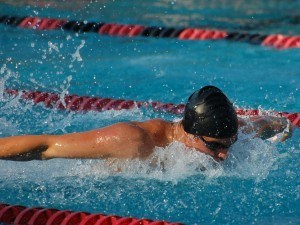 Ian Silverman broke the AR in men's 100 fly s10 with 58.19. Photo: Anne Lepesant