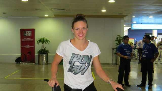 Katinka Hosszu - 2014 FINA World Cup, Dubai arrival (courtsy of FINA)