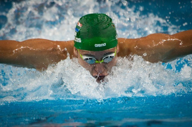 Chad Le Clos - images from day 2 of the 1st round - 2014 FINA World Cup (courtsy of FINA)