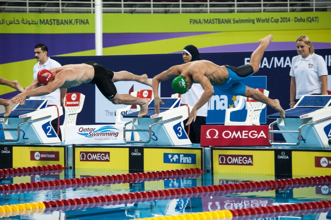 2014 FINA World Cup Doha: World record and three wins for Hosszu on day 2, Dekker wins twice