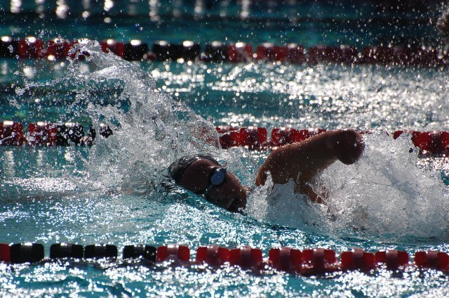 Lizzi Smith in the women's 100 free S9 final. Photo: Anne Lepesant