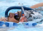 Marcelo Chierighini makes creative use of his snorkel at the Gold Coast Aquatic Centre. Foto: Satiro Sodre/SSPress.