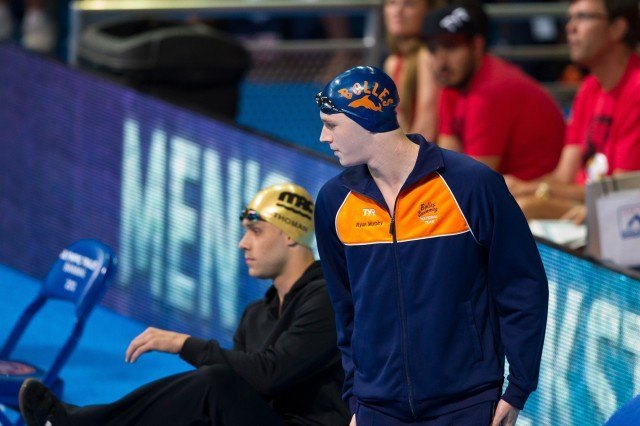 "Ryan Murphy made quite an impression in 2014 as a Cal Bear, but his roots are as a Bolles Shark. This process is what scientists call ""evolution."" (Courtesy: Tim Binning/TheSwimPictures.com)"