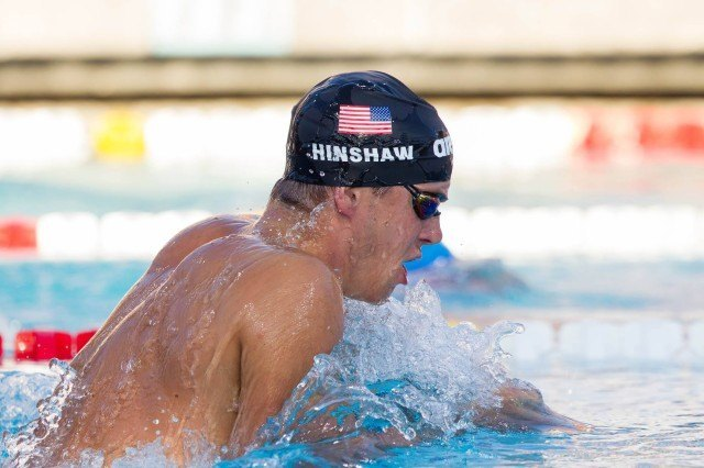 In finals of the 400 IM, Josh Prenot was Adam Hinshaw. (Photo Courtesy: Tim Binning/TheSwimPictures.com)