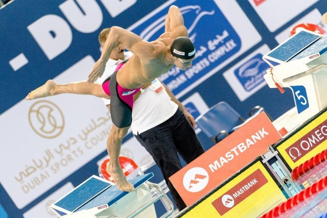Roland SCHOEMAN RSA 50 Breaststroke men FINA Mastbank Swimming World Cup 2014 Dubai, UAE  2014  Aug.31 th - Sept.1st Day1 - Aug. 31 heats Photo G. Scala/Deepbluemedia