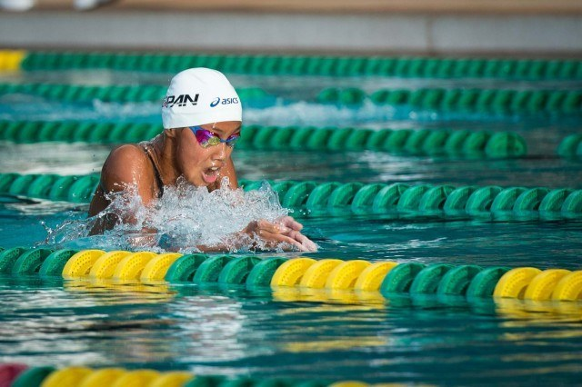 Runa Imai took the women's 200 breast (photo: Mike Lewis, Ola Vista Photography)