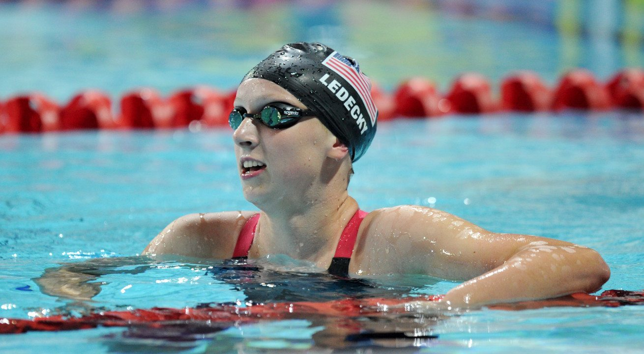 Katie Ledecky Breaks World Record in Women's 1500 Meter Freestyle