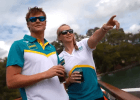 Chris Wright, Melanie Schlanger (courtesy of Swimming Australia)