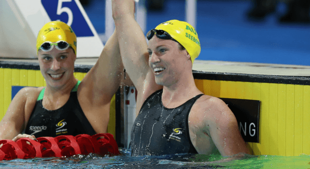 Belinda Hocking, Emily Seebohm, 2014 Pan Pacs (courtesy of Paul Younan)