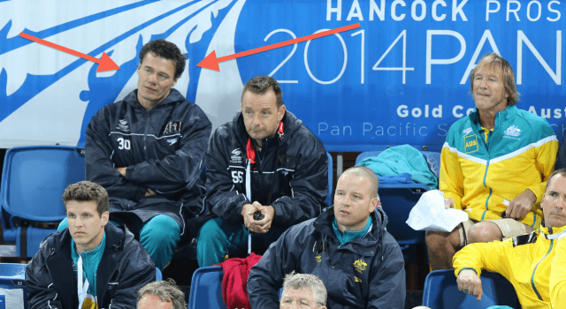 Jacco Verhaeren, Swimming Australia National Team Coach, 2014 Pan Pacs (courtesy of Paul Younan)