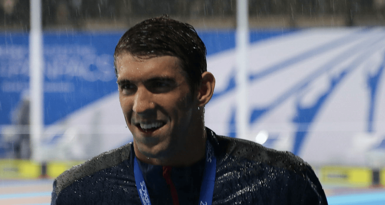 Michael Phelps Swimming in the Rain – 2014 Pan Pacs Photo Vault