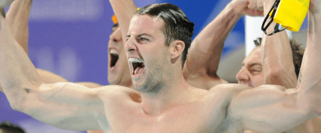 James Magnussen on the 4x100 free relay win - 2014 Pan Pacific Championships (courtesy of Scott Davis)