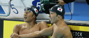 Daiya Seto, Kosuke Hagino - 2014 Pan Pacific Championships (courtesy of Scott Davis)