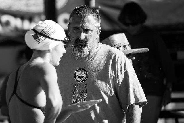 Coach Sergio Lopez helping guide the talent on team USA (photo: Mike Lewis, Ola Vista Photography)